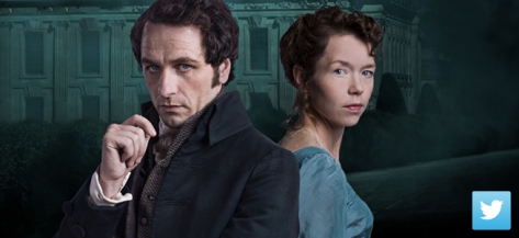 "P. D. James' clever whodunit ""Death Comes to Pemberley""  stars Anna Maxwell Martin (""Bleak House""), Matthew Rhys (""The Americans"") is live Tweeting during air time with fans."