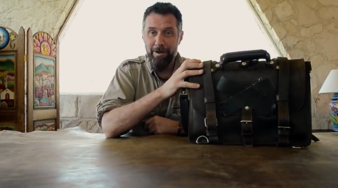 Dave Munson, CEO of Saddleback Leather made an entertaining 12 minute video giving his imitators — and us — step-by-step instructions on how to make leather bags your kids will fight over when you die.